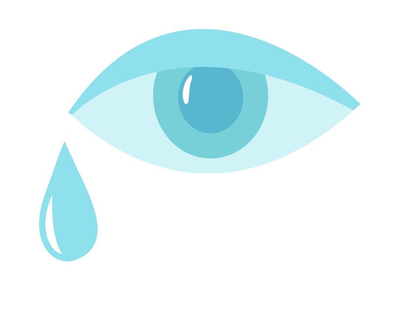 eye with tear