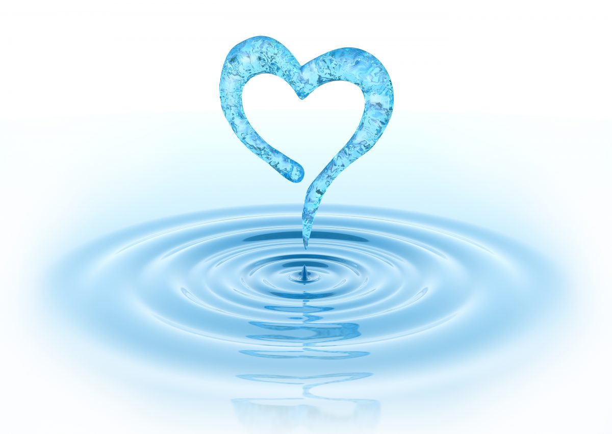 Waterdrop and heart